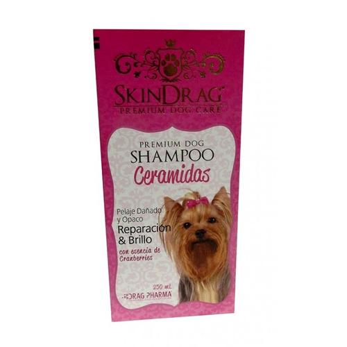 shampoo ceramidas premium para perros skindrag 250 ml