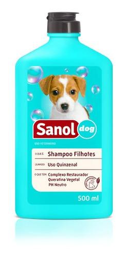 shampoo cães filhotes banho para cachorro filhotinho sanol
