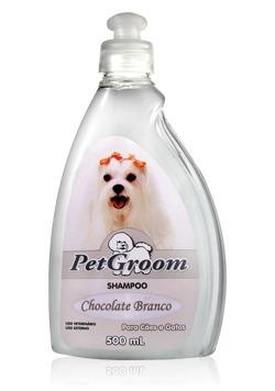 shampoo chocolate branco cães e gatos - petgroom