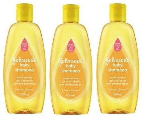 shampoo clásico johnson's 400 ml pack 3 unidades