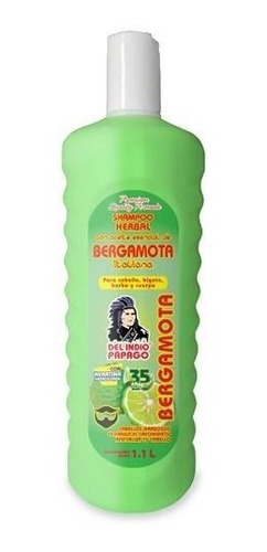 shampoo con aceite de bergamota italiana 1.1 lt indio papago