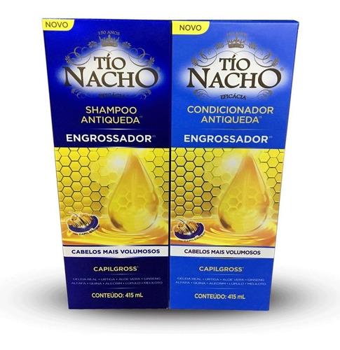 shampoo+condicionador engrossador antiqueda 415ml tio nacho