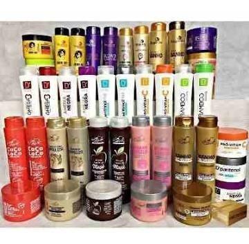 shampoo + condicionador + máscara 30 produtos atacado!