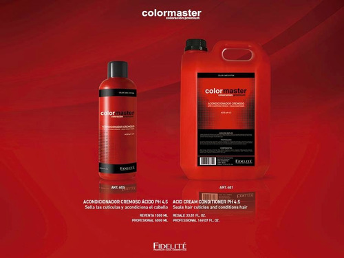 shampoo cremoso neutro ph6,5 fidelite color master x 1000ml