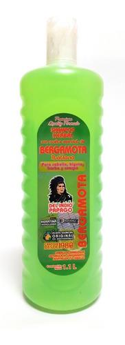shampoo de aceite de bergamota 1.1 l indio papago envio full