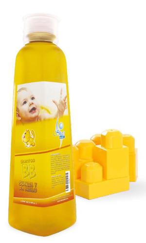 shampoo de bebé suaviza da brillo no lágrimas fortalece