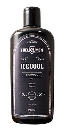 shampoo de cabelo e barba ice cool 2 em 1 fuel4men 240ml