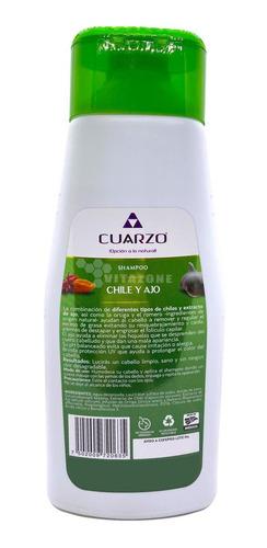 shampoo de chile y extracto de ajo 550 ml cuarzo cosmetics.