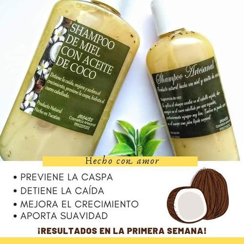 shampoo de miel con aceite de coco. cocales ¿ 250 ml