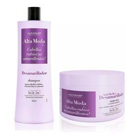 Shampoo Desamarillador + Máscara Alfaparf Alta Moda