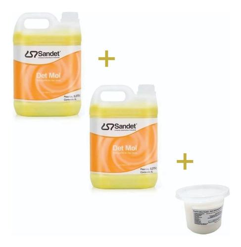 shampoo detmol  5 lts - sandet - 2 galões + 1 multi limpante