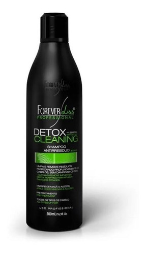 shampoo detox cleaning antirresíduo forever liss 500ml