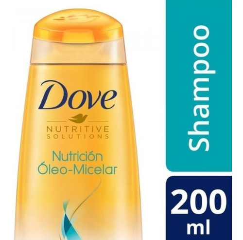 shampoo dove nutricion oleo micelar 200 ml.