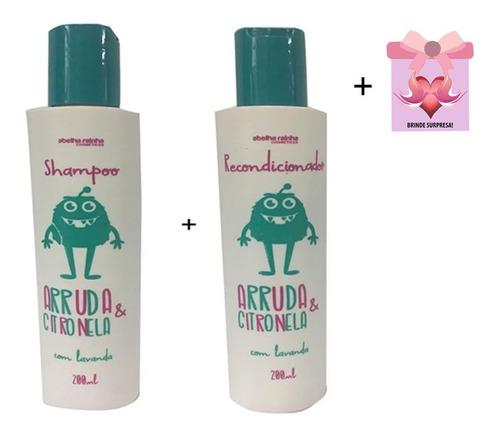 shampoo e condicionador mata piolhos abelha rainha + brinde