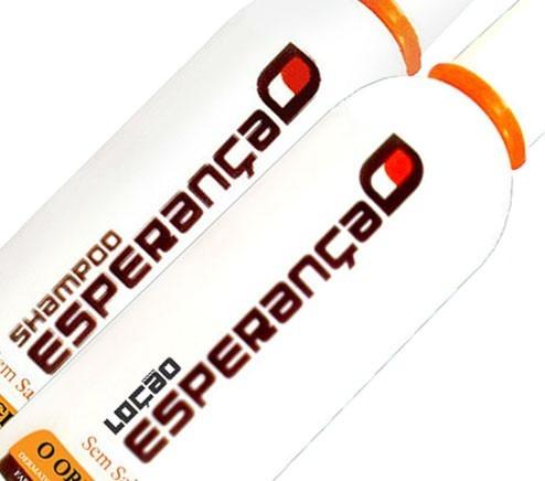 shampoo esperança, a  solução definitiva contra a calvície.