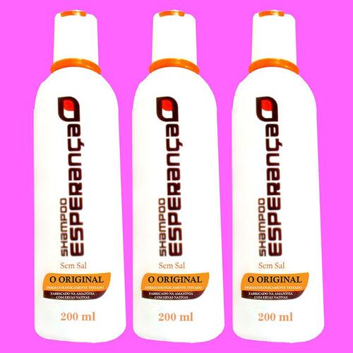 shampoo esperança, contra caspa,calvície e queda dos cabelos