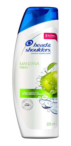 shampoo head & shoulders manzana fresh 375 ml