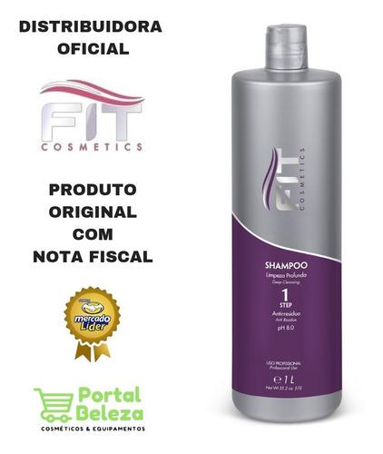 shampoo limpeza profunda fit cosméticos 1 litro