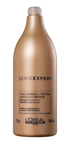 shampoo loréal absolut repair gold quinoa + protein 1,5l