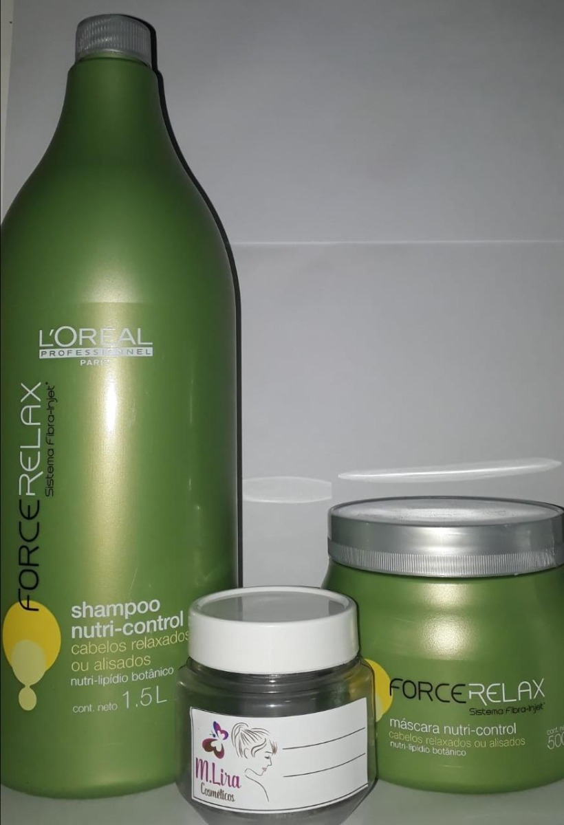 b36fc8c63 shampoo loreal force relax + máscara force relax fracionado. Carregando  zoom.