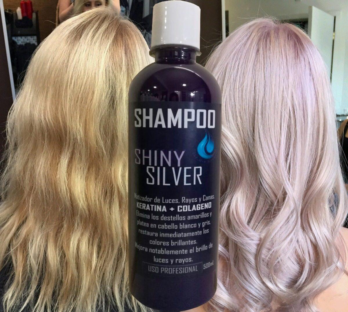 Shampoo Matizador Cabello Rubio Shiny Silver 500ml 250 00 En