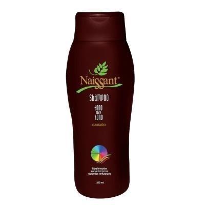 shampoo naissant tono sobre tono castaño x 200ml