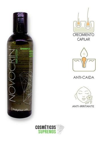 shampoo natural anticaida de cabello novocrin