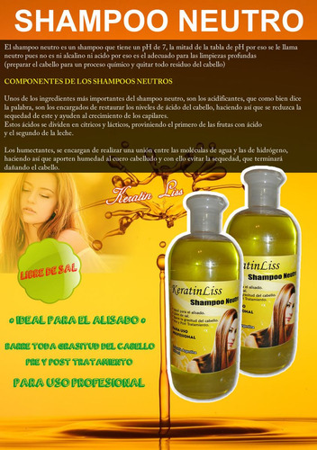 shampoo neutro keratinliss 500 ml