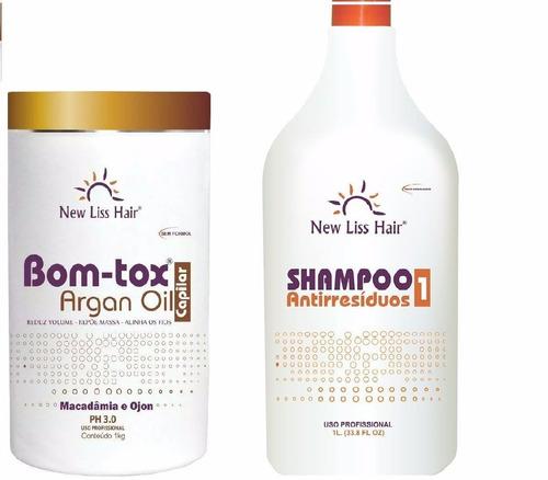 shampoo new liss + botox s/formol 1kg premium profissional
