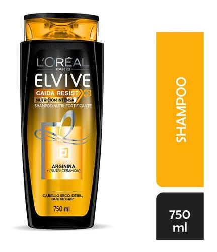 shampoo nutricion intens l'oréal elvive caida resist x3 750m