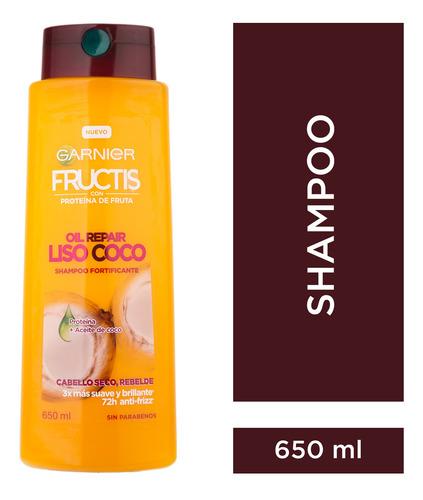 shampoo oil repair liso coco fructis x650ml garnier