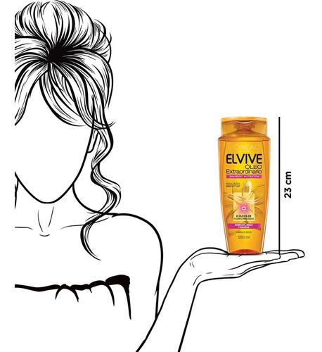 shampoo óleo extraordinario elvive l'oréal paris 680ml