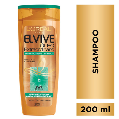 shampoo oleo extraordinario rizos x200 elvive loreal paris