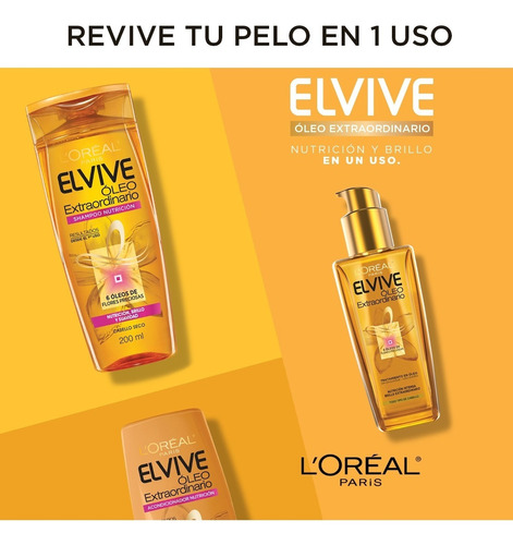 shampoo oleo extraordinario x200ml elvive loreal paris