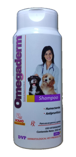 shampoo omegaderm 350 ml holland humectante antiprurítico
