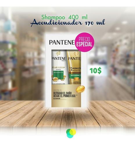 shampoo pantene pro-v x400ml + aco 3mm x170ml
