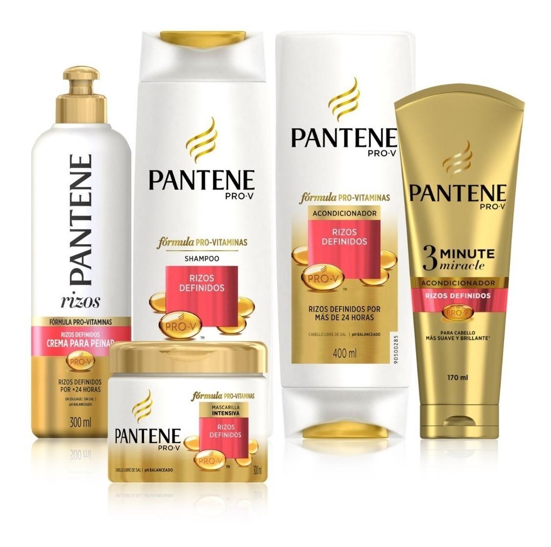 Shampoo Pantene Rizos Definidos 750 Ml 2 Acondicionadores
