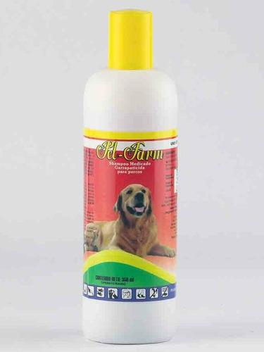 shampoo para perros pet farm insecticida garrapaticida 350ml