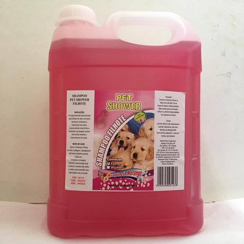 shampoo pet shower  filhotes 20 litros fragância morango