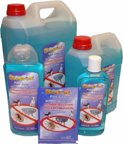 shampoo pulguicida shampusol pulgar 15x40ml premium perros