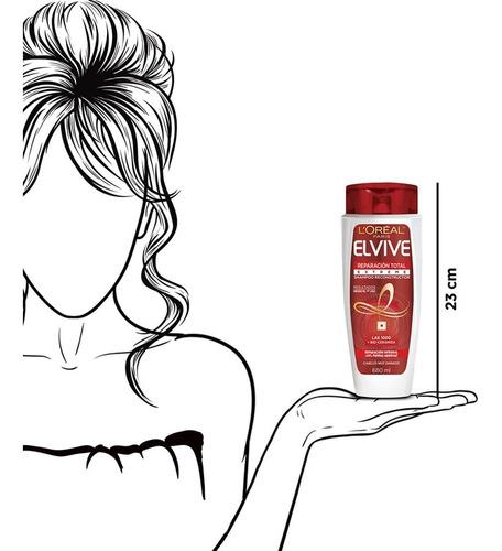 shampoo reparación extreme elvive 680 ml l'oréal paris