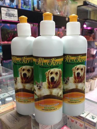 shampoo repelente pet-farm para perros y gatos 350ml