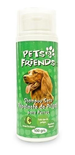 shampoo seco repelente de pulgas para perros