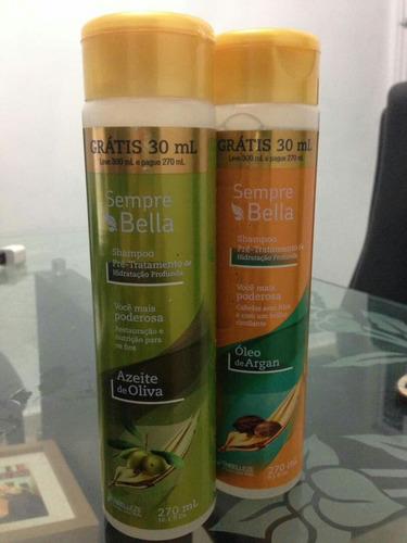 shampoo sempre bella oleo de argan y aceite de oliva