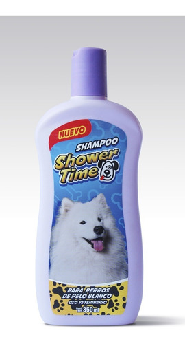 shampoo showertime 350ml pelo blanco