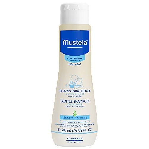shampoo sin lágrimas mustela para bebé con aguacate natura