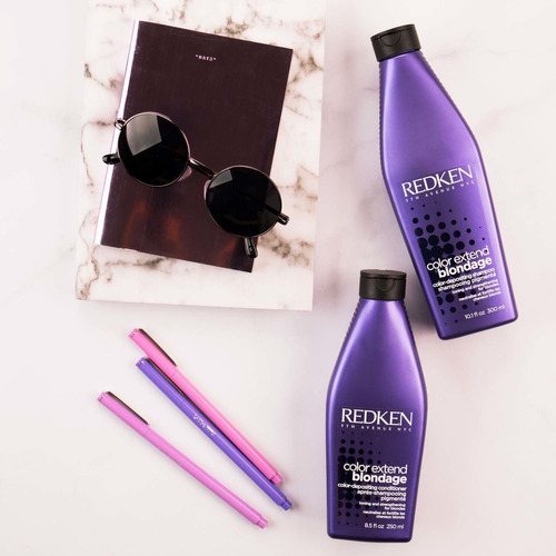 shampoo sin sal para mantener el tono rubio blondage redken