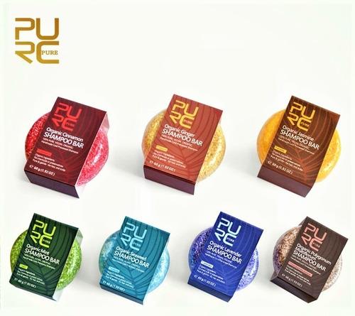 shampoo sólido en barra 100% orgánico vegano hasta 70 lavada