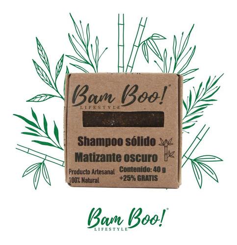 shampoo solido matizante oscuro bam boo! lifestyle® 50 gr