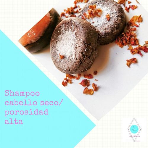 shampoo sólido porosidad alta/ cabello seco